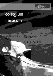 Programmheft SoSe 2010 - Collegium Musicum Hannover - Leibniz ...