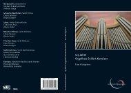 125 Jahre Orgelbau Seifert - organum | Classics