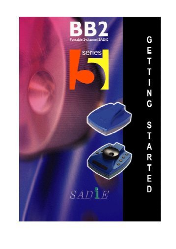 SADiE BB2 User Manual