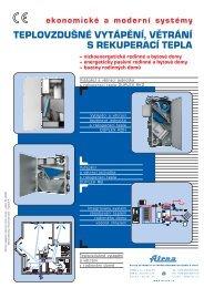 teplovzdušné , vytápění větrání s rekuperací tepla - PRIMA - KLIMA ...
