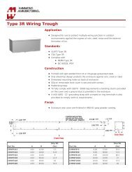 Type 3R Wiring Trough (C3RWT Series) - Hammond Mfg.