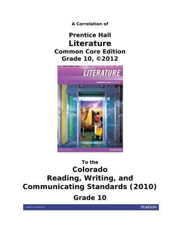 Prentice hall literature common core edition pearson fandeluxe Image collections