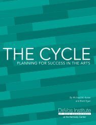 PLANNINg FOR SUCCESS IN THE ARTS - ArtsManager