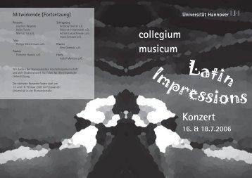 Mitwirkende (Fortsetzung) - Collegium Musicum Hannover