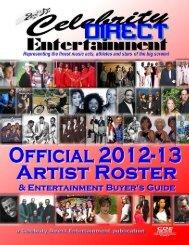 download full artist roster magazine - Celebrity Direct Entertainment