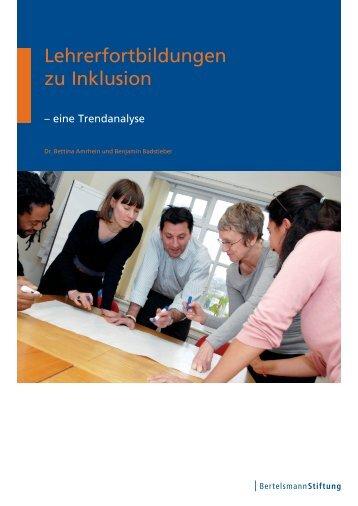 Lehrerfortbildungen zu Inklusion - Bertelsmann Stiftung