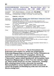 Ausschreibung - BTTV - Bezirk Oberbayern