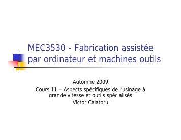 MEC3530 - Fabrication assistée par ordinateur et ... - Moodle