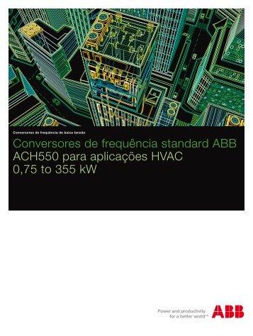 Conversores de frequência standard ABB ACH550 para aplicações ...