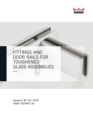 fittings and door rails for toughened glass assemblies - DORMA ...