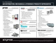 air distribution, mechanical & hydronics products ... - EH Price Regina