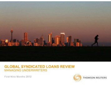 global syndicated loans review - Thomson Reuters Deal Making ...