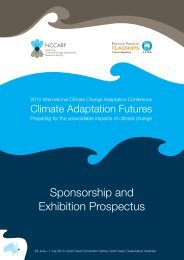 Sponsorship and Exhibition Prospectus - National Climate Change ...