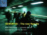 XENON100 – The new Results - Fermilab