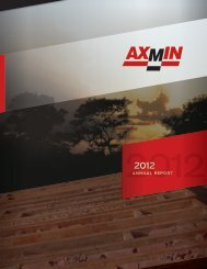 ANNUAL REPORT - AXMIN Inc