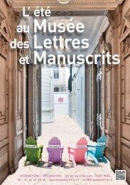 Programmation détaillée - Musée des lettres et manuscrits