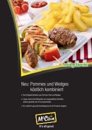 Neu: Pommes und Wedges köstlich kombiniert - Food Service