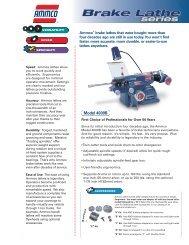 Ammco Brake Lathe Series Catalog