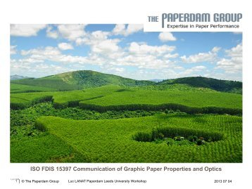 ISO FDIS 15397 Communication of Graphic Paper Properties and ...