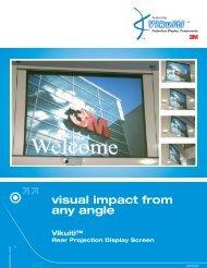 Vikuiti™ Rear Projection Display Screen - Interactive Systems