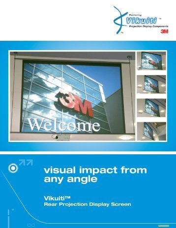 Vikuiti™ Rear Projection Display Screen - Interactive Systems