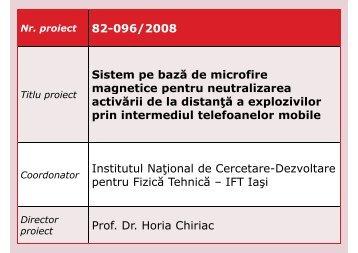 Sistem pe baza de microfire magnetice pentru neutralizarea activarii