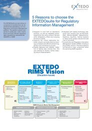 5 Reasons to choose the EXTEDOsuite for Regulatory Information ...