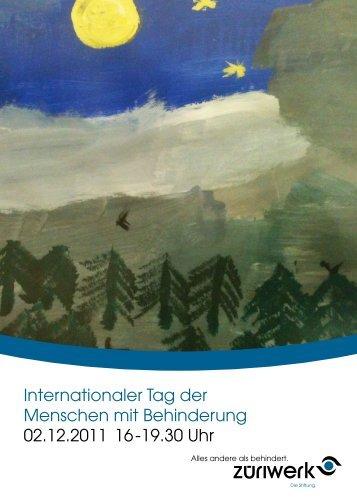 Internationaler Tag der Menschen mit Behinderung 02.12 ... - Züriwerk