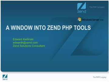 "Zend Web Application Server code name: ""Zenith"""