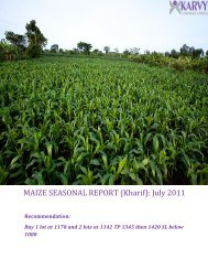 MAIZE SEASONAL REPORT (Kharif): July 2011 - Karvy ...