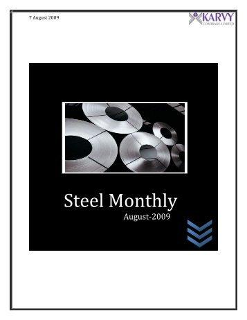 Steel Monthly - Karvy Commodities Broking