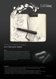 While you sketch on paper, your idea goes digital.