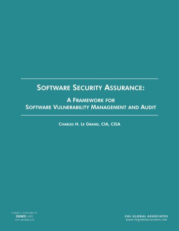SOFTWARE SECURITY ASSURANCE: - Build Security In - US-CERT