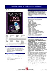 Telephone Projects for the Evil Genius: 1st Edition