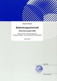 Bekleidungswirtschaft. Branchenanalyse 2009 - Organisation ...
