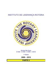 INSTITUTO DE LIDERANÇA ROTÁRIA - Rotary Leadership Institute