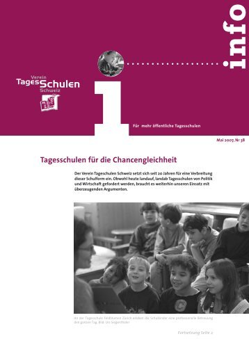 Mai 2007 - Bildung und Betreuung - Education et Accueil
