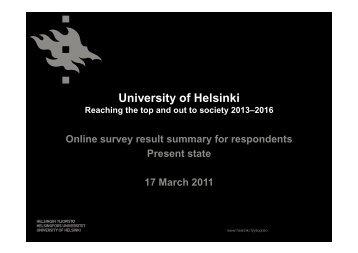 University of Helsinki - Helsinki.fi