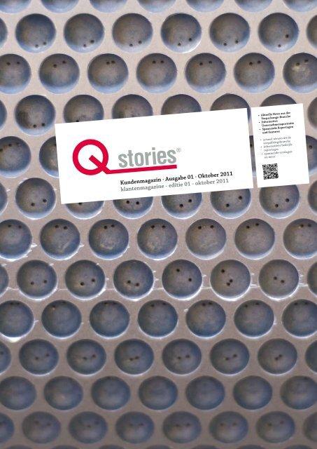 Ausgabe 01 · Oktober 2011 klantenmagazine ... - Qpartner Online