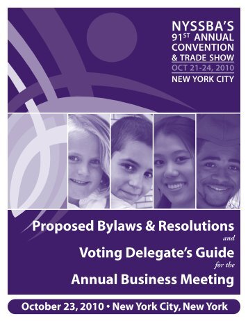 Proposed Bylaws & Resolutions - New York State School Boards ...