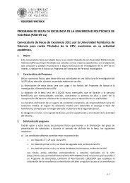 Convocatoria de Becas de Excelencia 2011 - Universidad ...