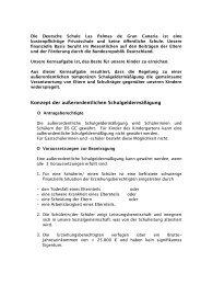 Info Beca - Deutsche Schule Las Palmas de Gran Canaria