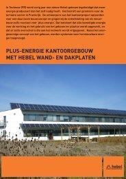 plus-energie kantoorgebouw met hebel wand- en dakplaten - Xella