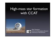 High-mass star formation with CCAT