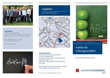 Institut für Lehrergesundheit Lageplan - AQS - in Rheinland-Pfalz