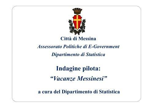 Presentazione pilota - Statistica - Comune di Messina