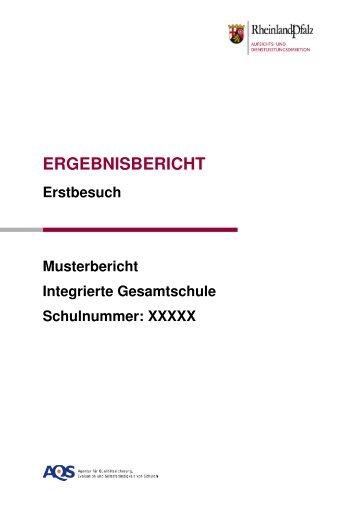 ERGEBNISBERICHT - AQS - in Rheinland-Pfalz