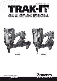 ORIGINAL OPERATING INSTRUCTIONS - Service