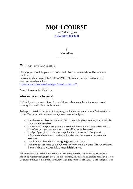 Download - Free MetaTrader 4 Files - Expert Advisors