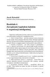 Rozdziała 4. Zarządzanie kapitałem ludzkim w organizacji